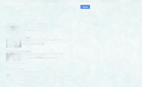 Pendant les fêtes, il neige sur Google...