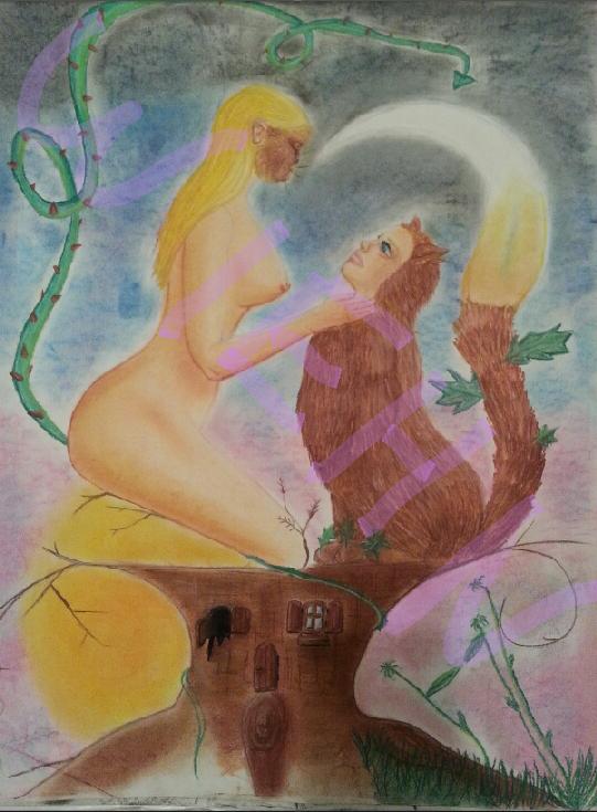 dessin fait au pastel sec finit le 5 mai 2014 à saintes.