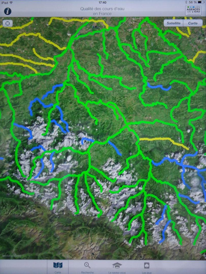 La qualité des cours d'eau du bassin versant du Salat