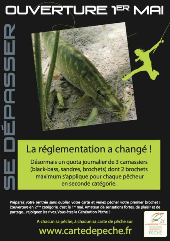 LA RÈGLEMENTATION DE LA PÊCHE DES CARNASSIERS CHANGE EN 2016
