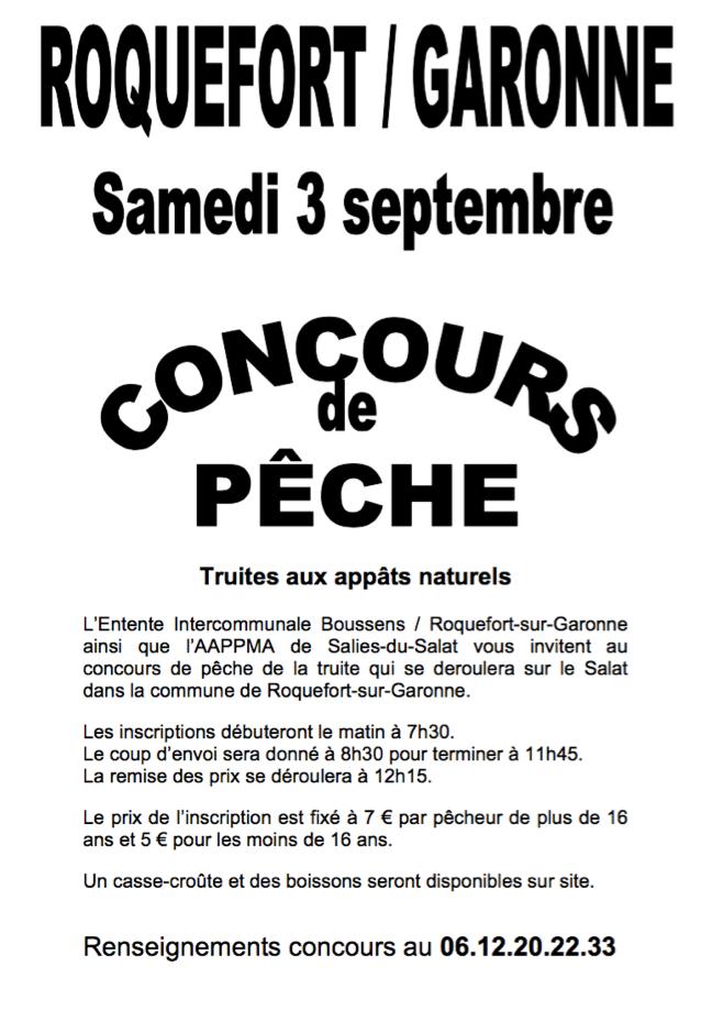 UN CONCOURS DE PÊCHE EST ORGANISÉ À ROQUEFORT-SUR-GARONNE, LE 3 SEPTEMBRE 2016