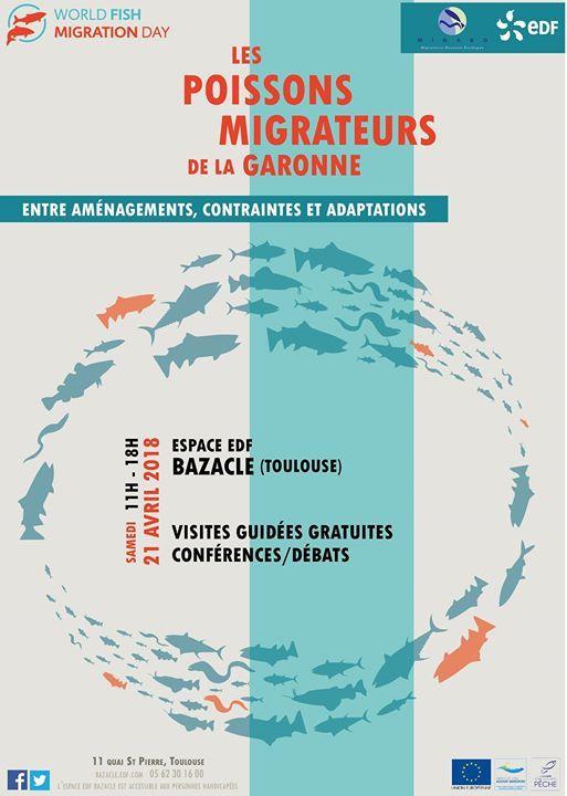 L'ASSOCIATION MIGADO VOUS INVITE À LA JOURNÉE MONDIALE DES POISSONS MIGRATEURS, LE SAMEDI 21 AVRIL 2018