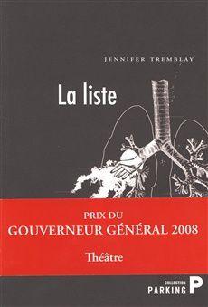 Jennifer Tremblay - théâtre - La liste