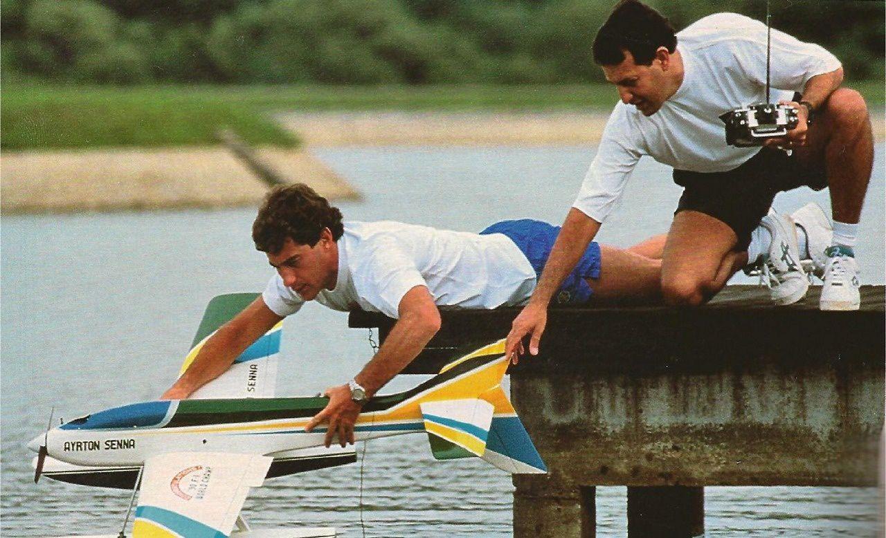 Ayrton Senna et l'aéromodélisme