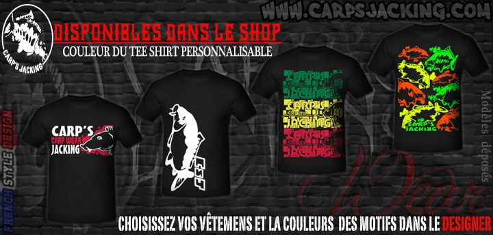 T-shirts pour carpistes