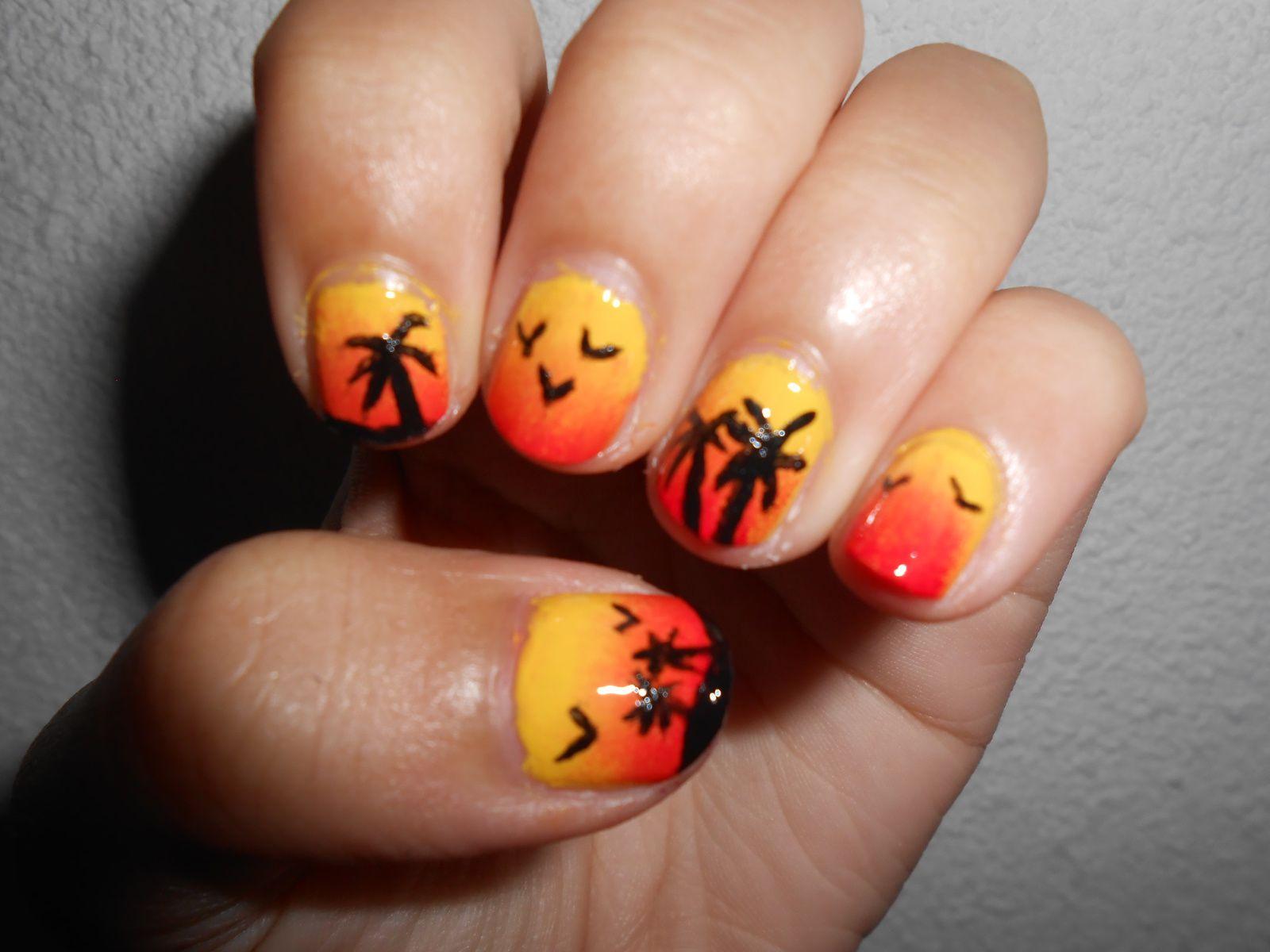 Sunset Nails - L'été arrive !!