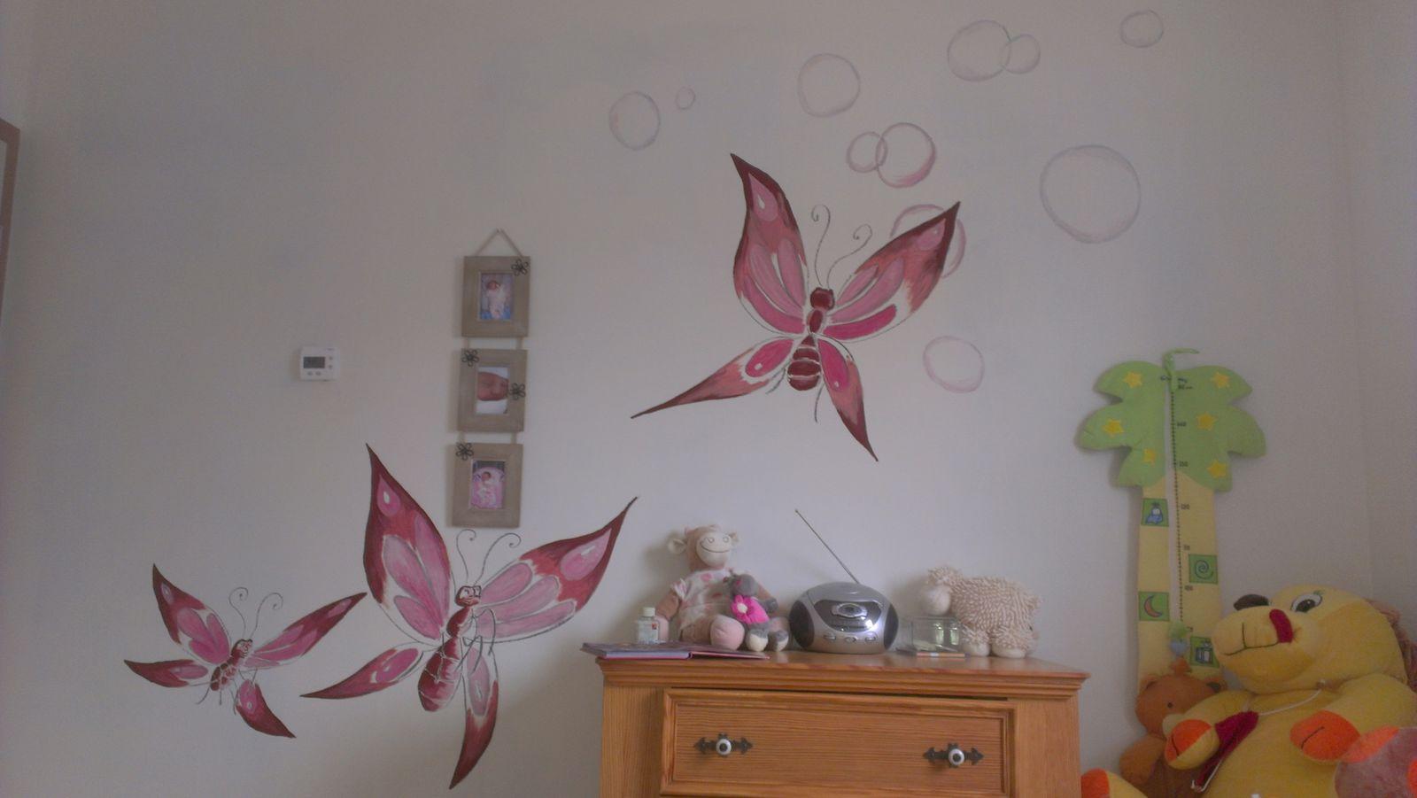 Fresque chambre petite fille pr l vement d for Peintures murales ikea