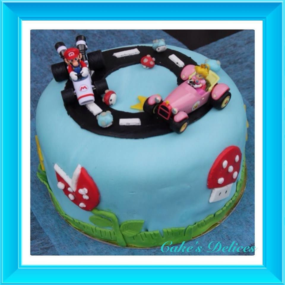 G teau surprise mario kart cake 39 s delices - Gateau surprise anniversaire ...