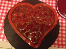 Bavarois Cœur Chocolat Framboise