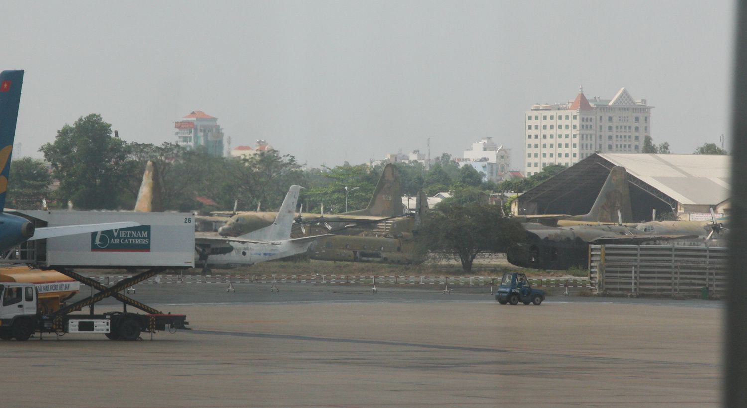 What remained of several C-130s, at least one AC-119 and a CH-47, as it was in 2009.
