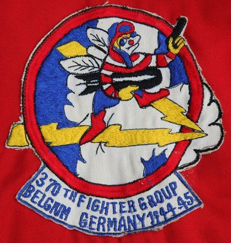 Detail of the probably unique Thai made 370th Fighter Group. The design is actually the one of the 435th Fighter Squadron, Crow's unit back in WWII.