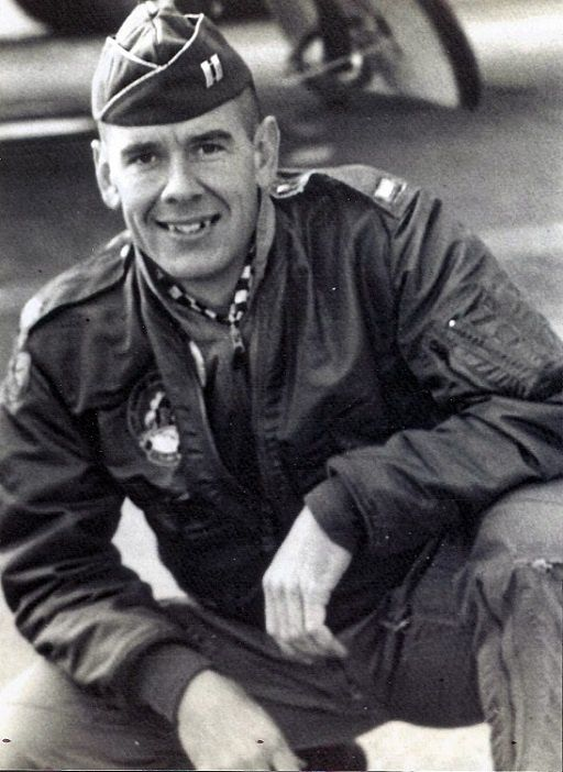 Capt. Robert D. Gallup during a previous assignment. Note that he pinned his captain rank on the cap while his jacket still shows the Lt. rank. Air Force