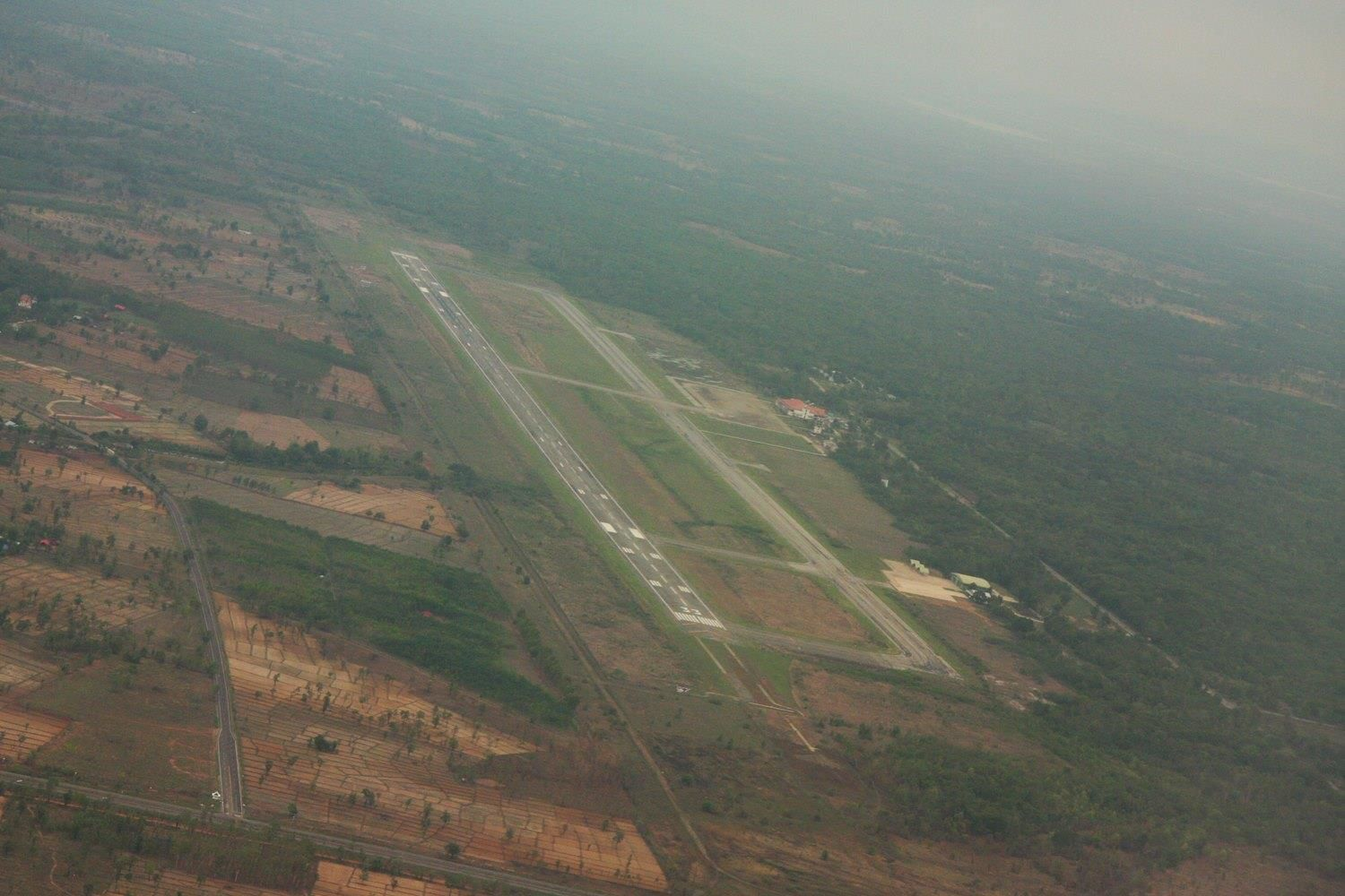 NKP from the air and he Plain of Jars, as of 2015.