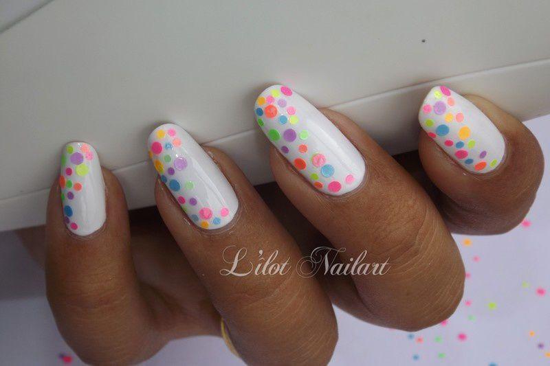 Nail art paillette coloré