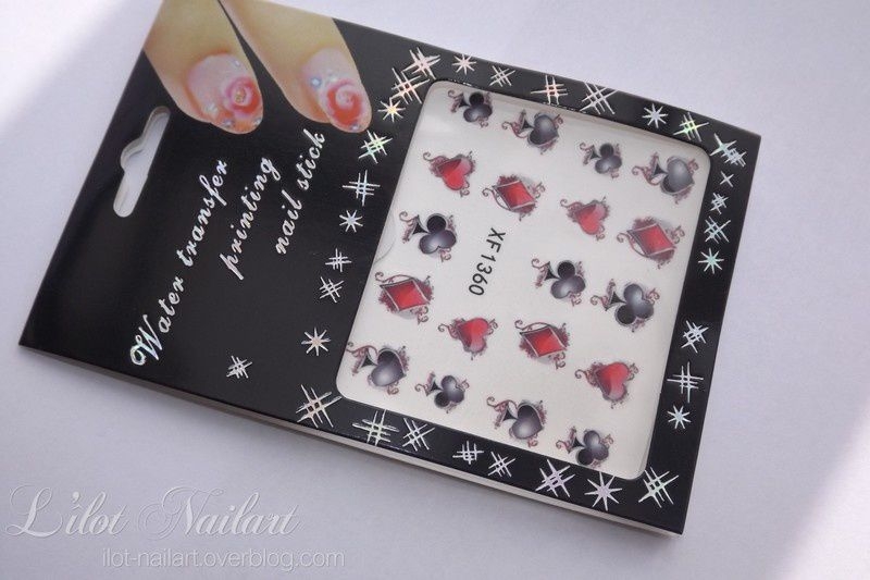 Nail art jeu de carte !!!