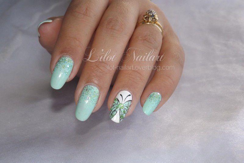 Nail art papillon !!!