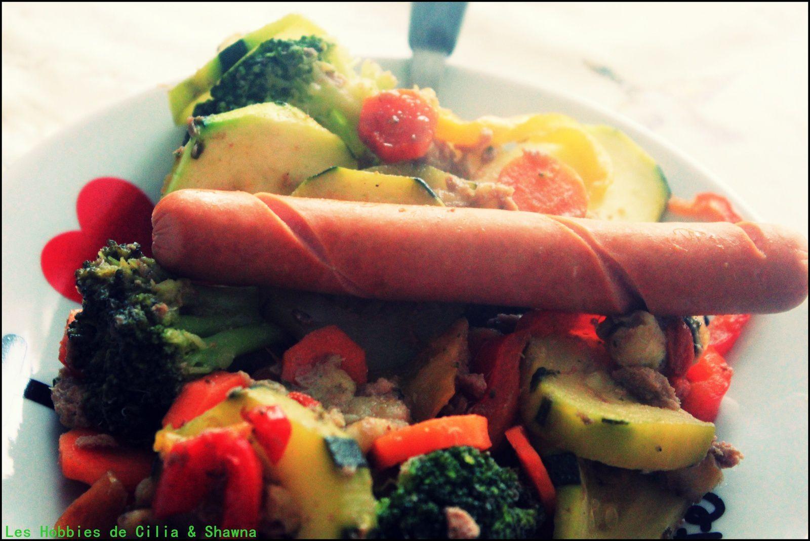 Sauté de légumes aux graines de sésame