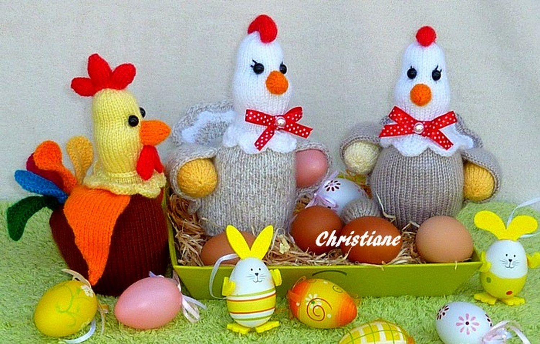 Poules et Coq de Pâques
