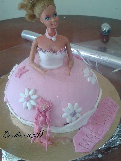 Bavarois ananas,vanille, trianon et Barbie 3D