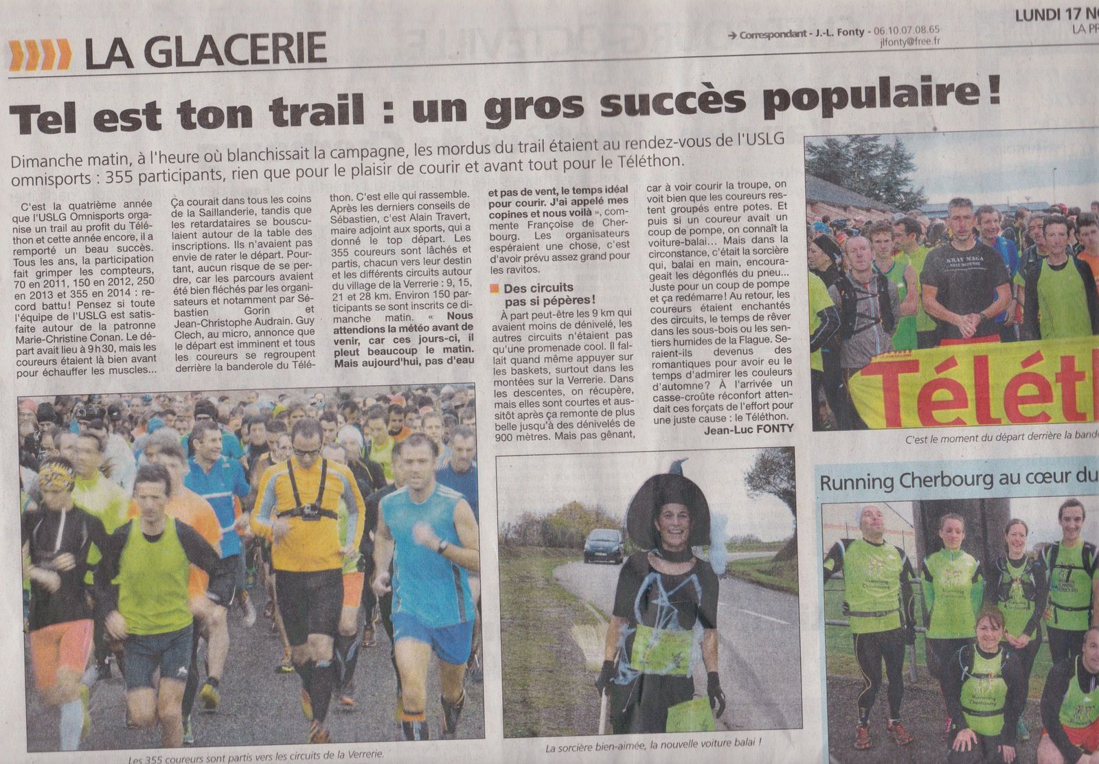 article Presse de la Manche 17/11/2014