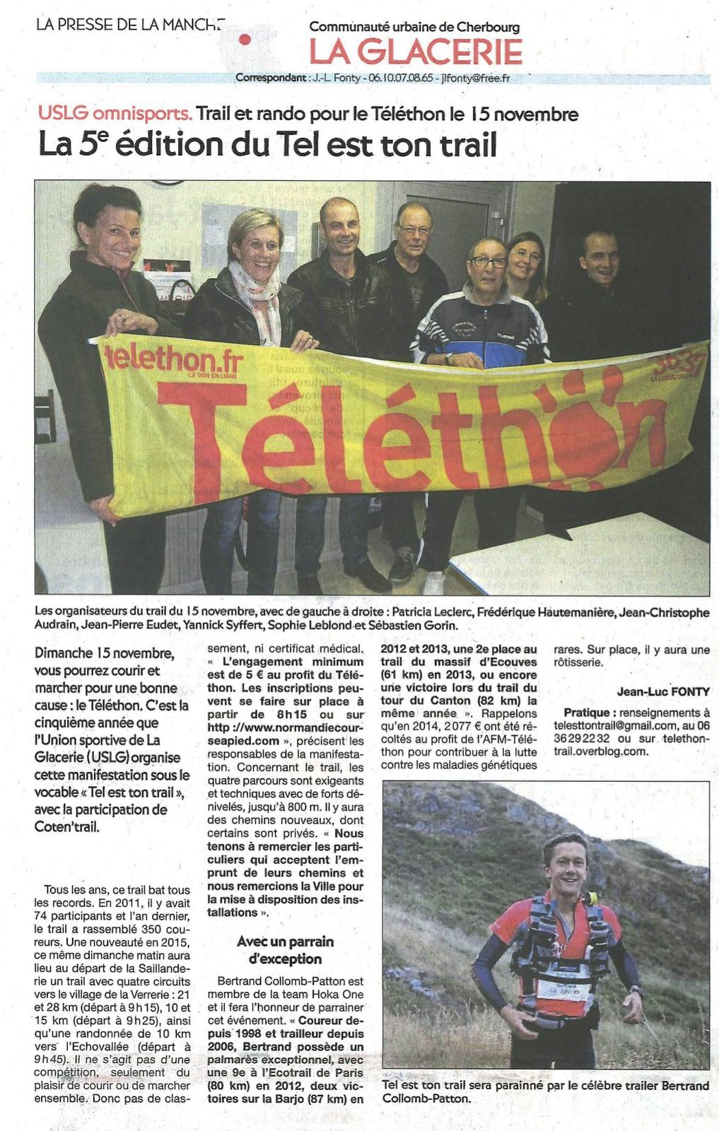 article Presse de LA Manche 06/11/15