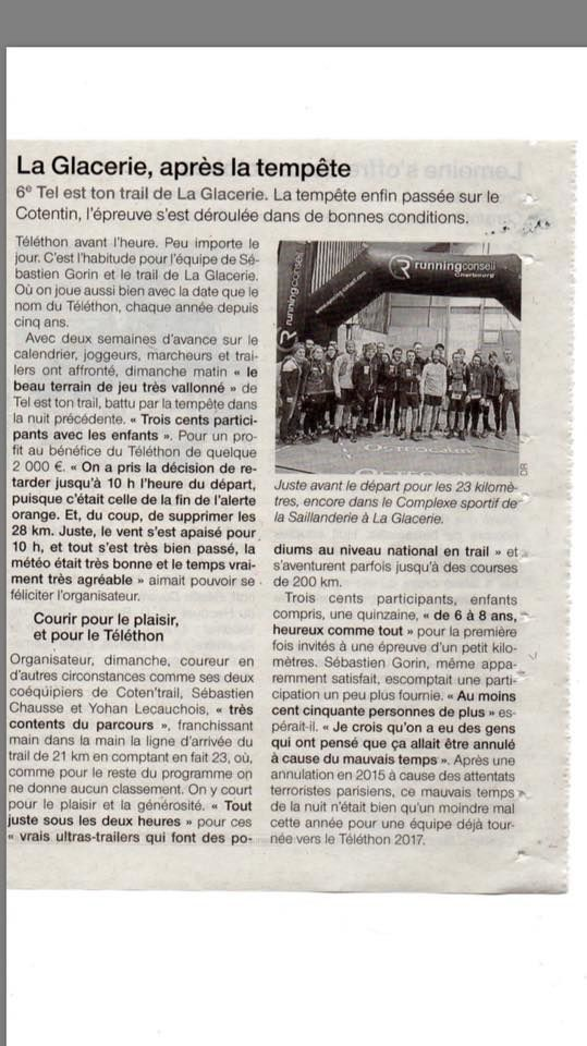 article Ouest-France du 21/11/2016