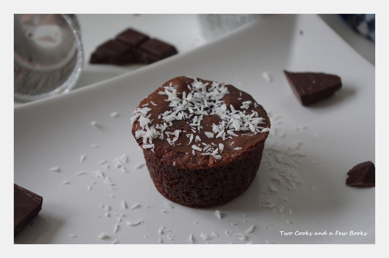 Moelleux au chocolat/coco et coeur coulant au lait de coco // Battle Food 19