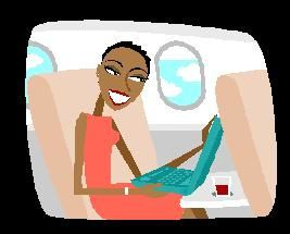 Blackwomanbusinesstravelleronplane