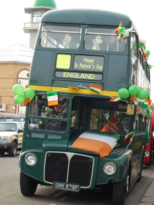 St Patrick's Day bus