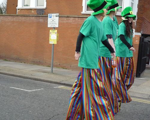 St Patrick's Day performers