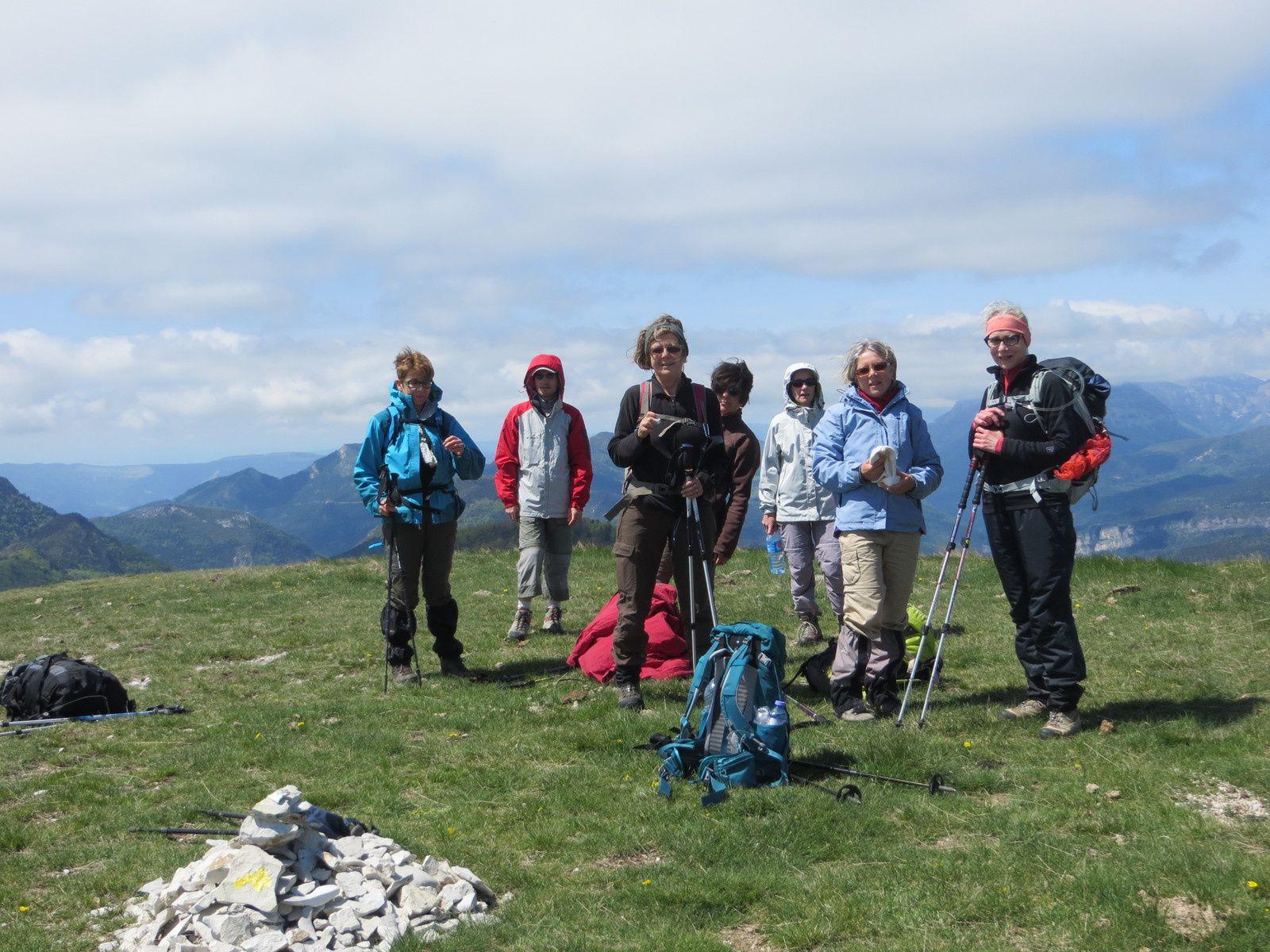 Montagne du Luzet 1692 m et Montagne Chauvet 1617 m et le gîte du PILHON