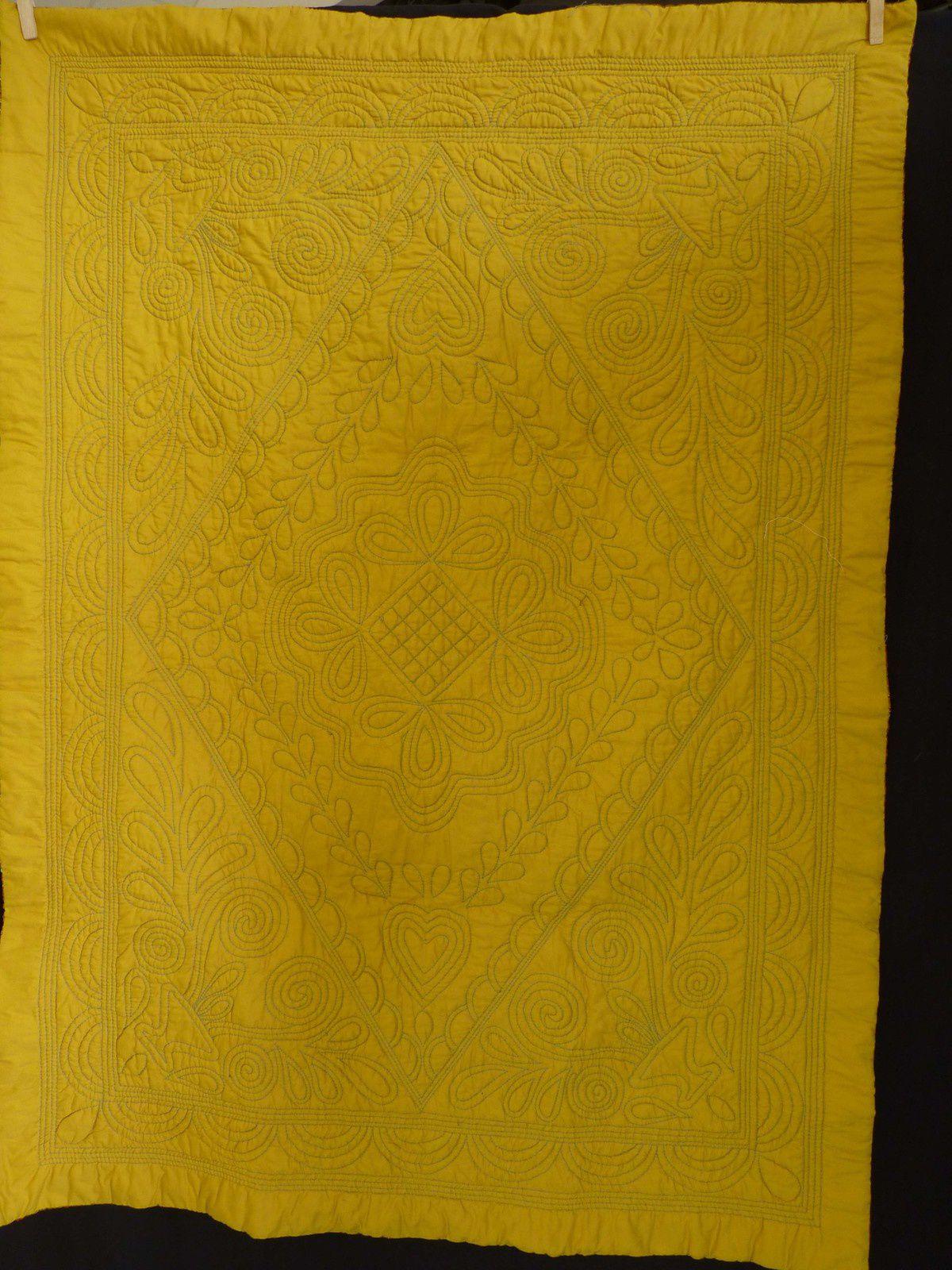 piqué marseillais de Marie-Jo fait main au point arrière détail photos J.Vétillard