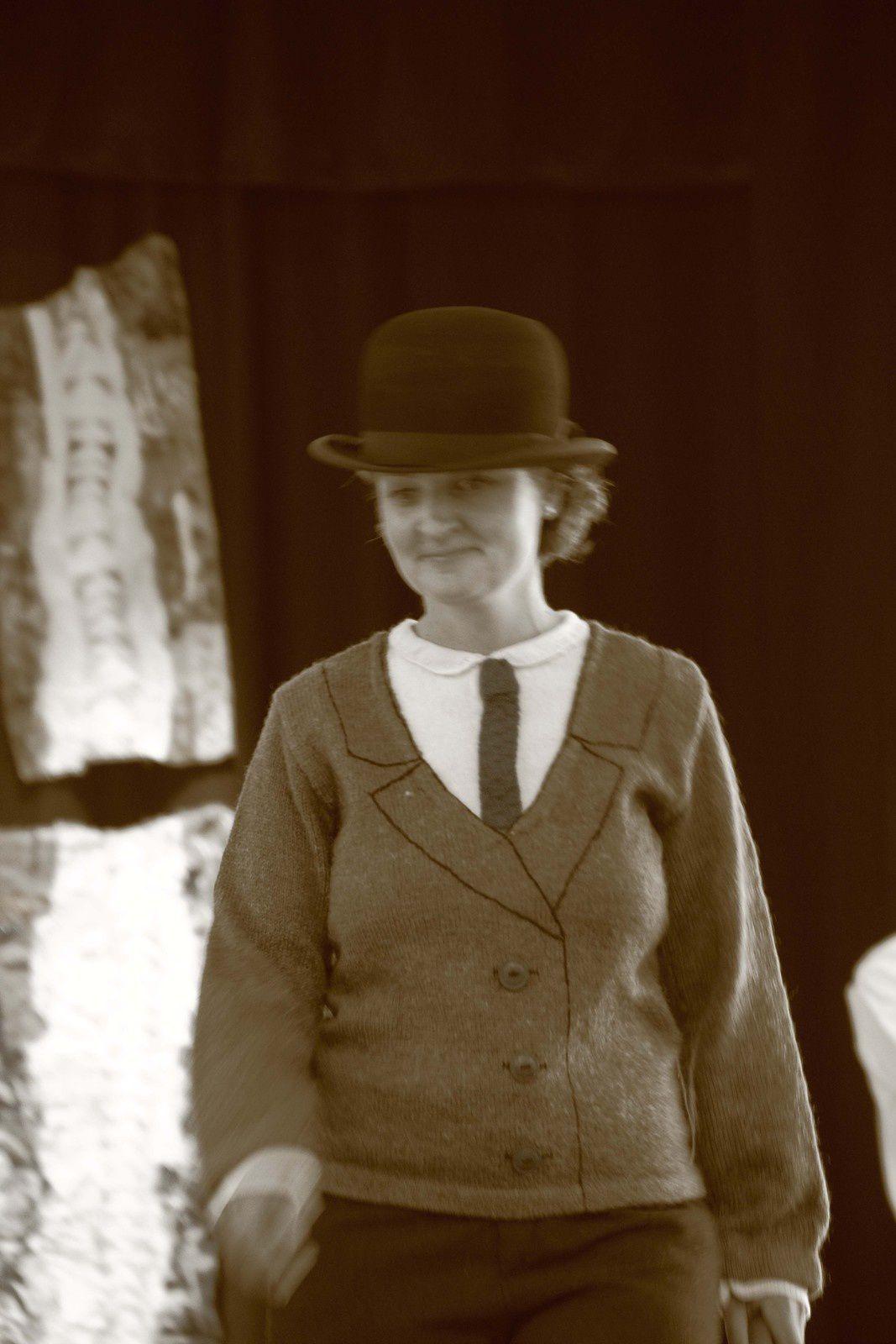 pull tricoté en trompe l'oeil photos C.Crouzel