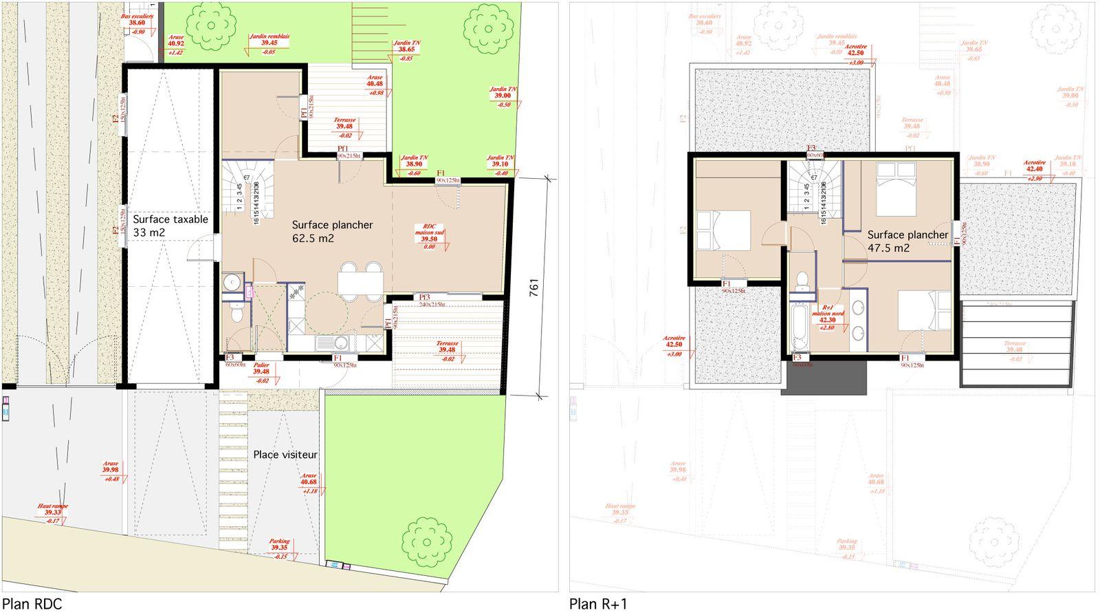 Deux maisons mediterraneennes portfolio loic bernat for Plan maison sud est