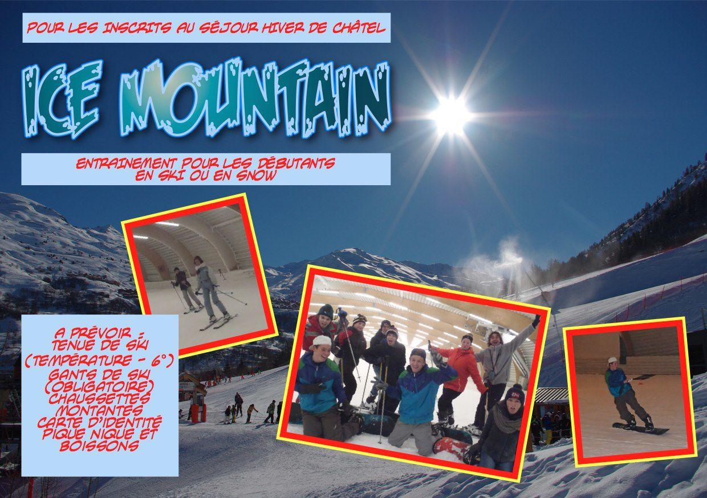 Réunion de Présentation Séjours et Ice Mountain