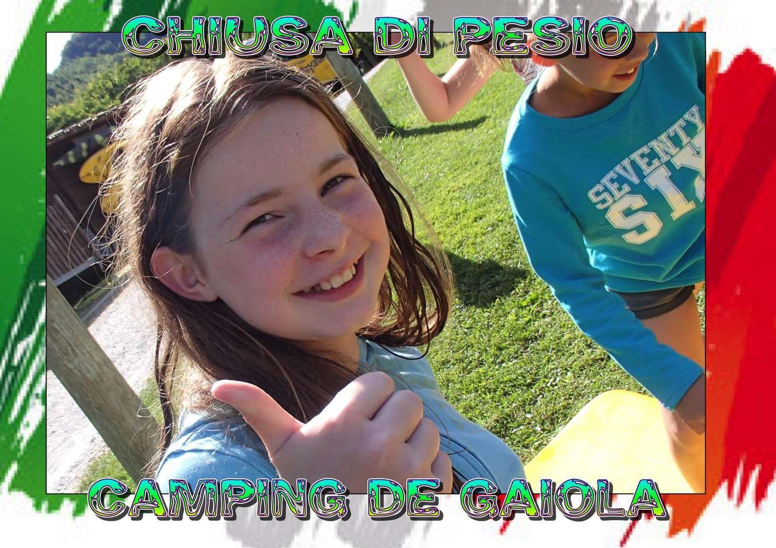 Les Enfants au Camping de Gaiola.