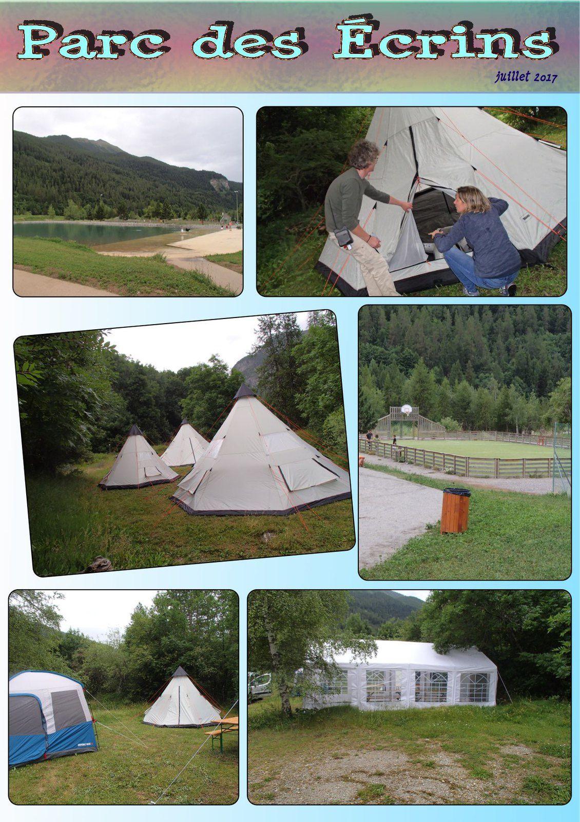 Installation du Camping d'Orcières à la Base de Loisirs