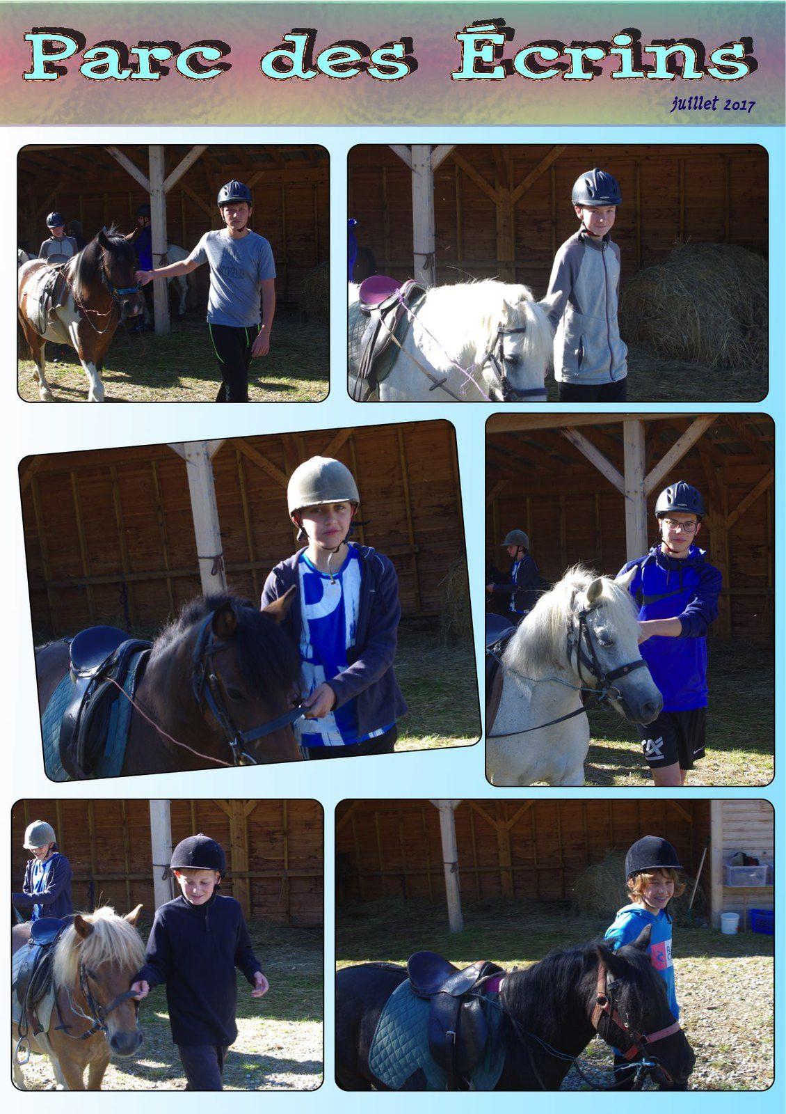 Un peu d'équitation pour une partie des Préados