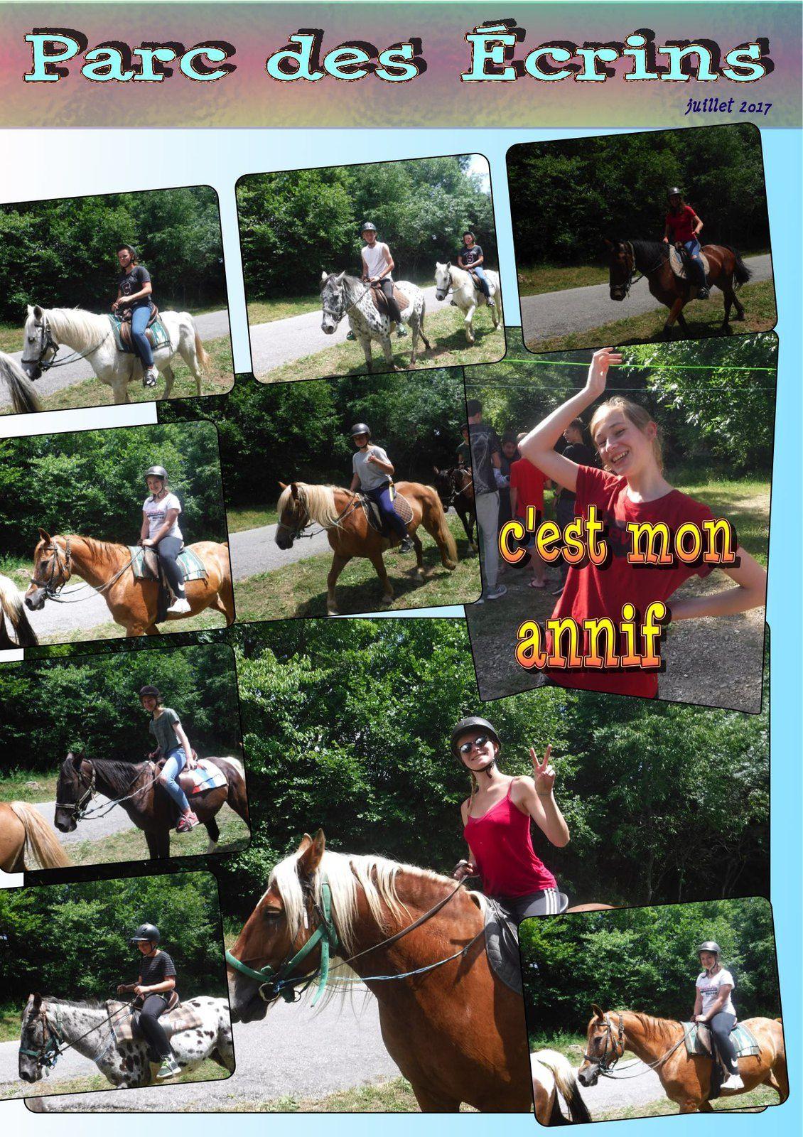 les deux premiers groupe d'équitation des Ados (d'âne)