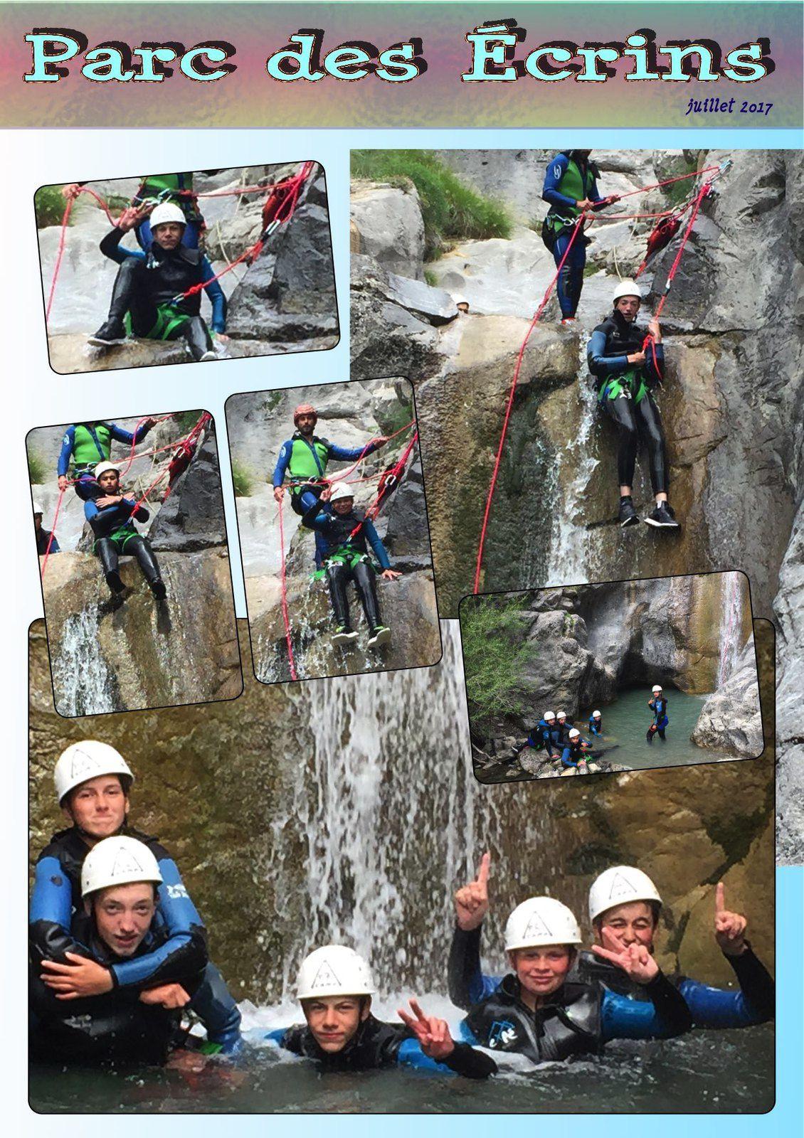 Le dernier groupe canyoning pour les Ados