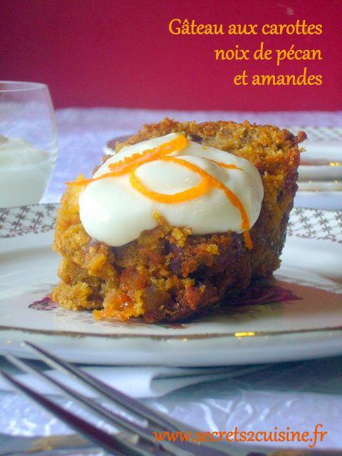 Gâteau aux carottes noix de pécan et amandes.