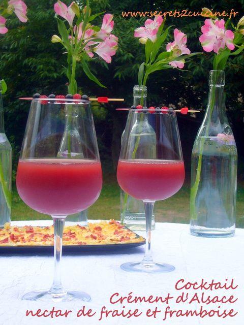 Beautiful Cocktail A Base De Cremant #13: Cocktail Crémant Du0027Alsace Nectar De Fraise ...
