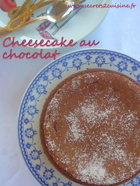 Cheesecake au chocolat noir.