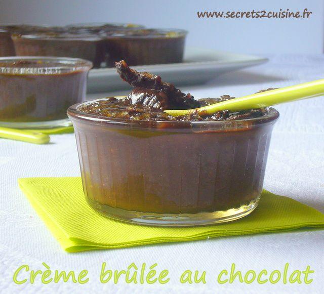 Crème brûlée au chocolat.