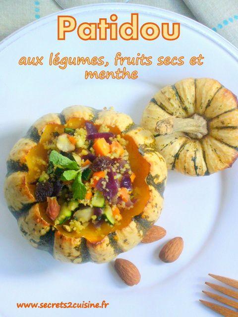 Patidou aux légumes, fruits secs et menthe.