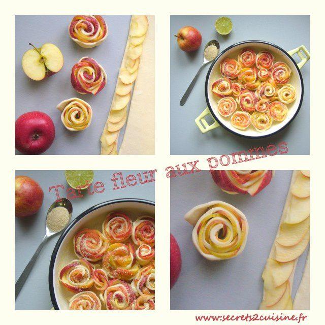 Tarte fleur aux pommes.