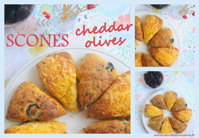 Scones cheddar olives.