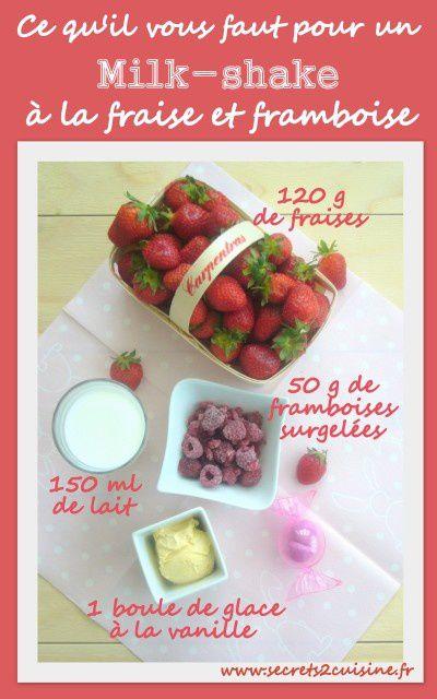 Milk-shake à la fraise et framboise.