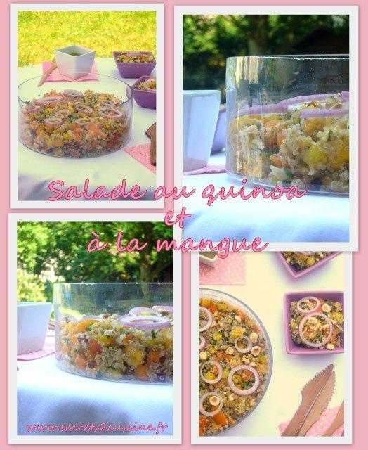 Salade au quinoa et à la mangue.