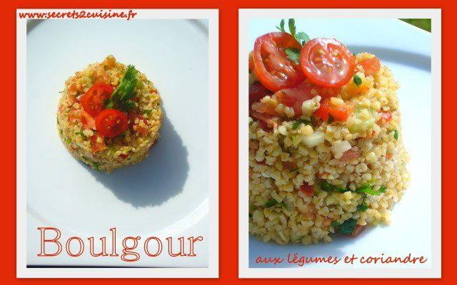 Boulgour aux légumes et coriandre.